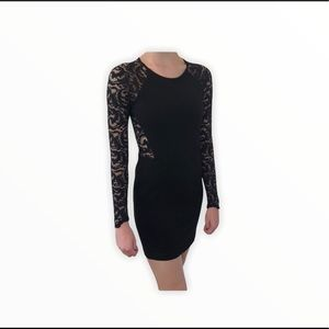 Parker Lace Stretch Fitted Mini Black S